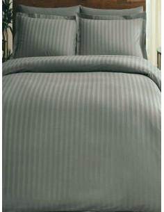 Двоен спален комплект TAC Saten Place в сиво-1