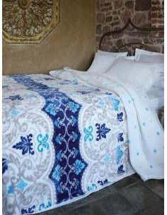 Одеяло MODALETTO PALMIRA в син цвят-1