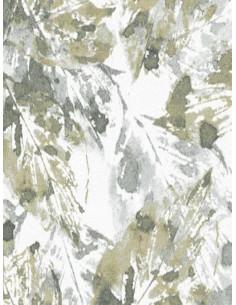 Килим със сиви и зелени листа-1