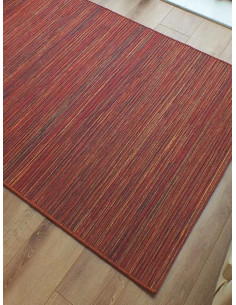 Релефен килим Brighton в червени нюанси-1